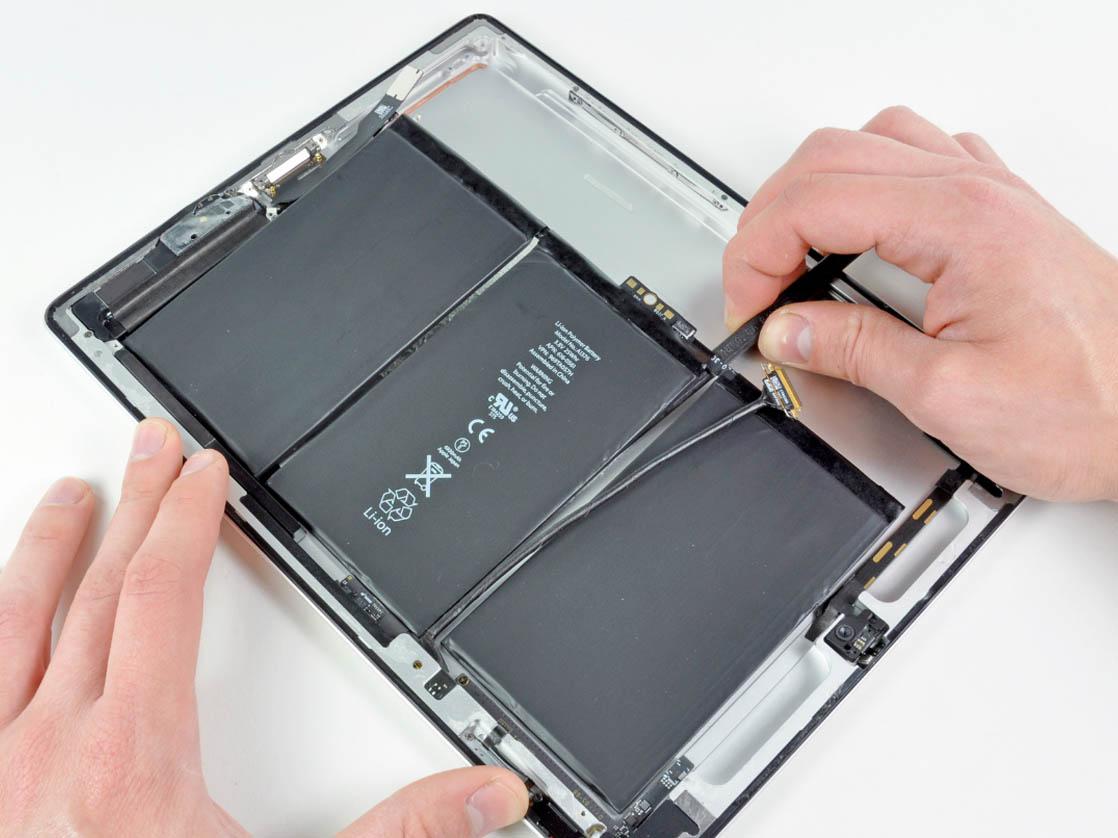 Замена батареи айпад 2