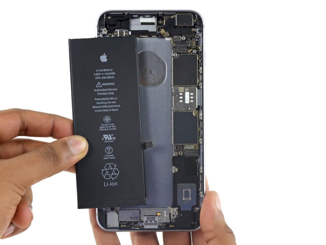 Замена аккумулятора на айфон 6s plus