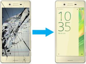 Замена дисплея на Sony Xperia X