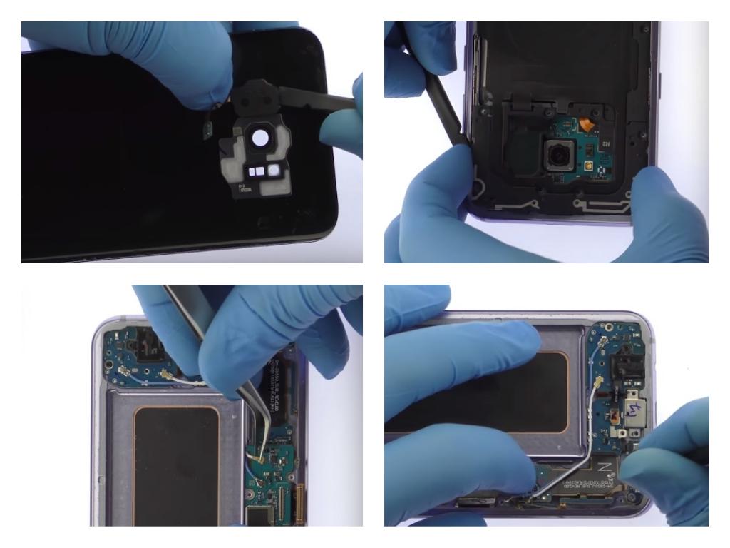 Процесс ремонта Samsung S8