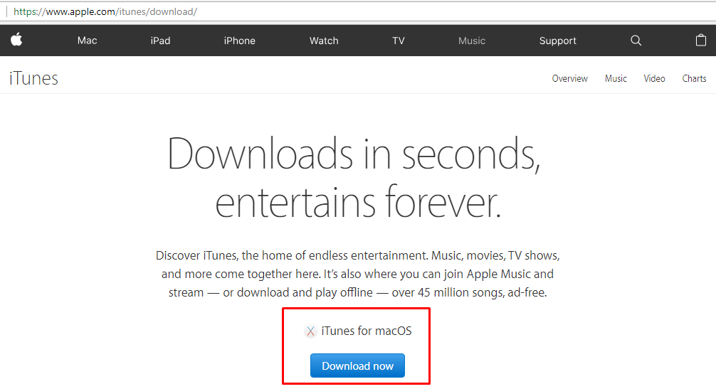 itunes apple for mac ios