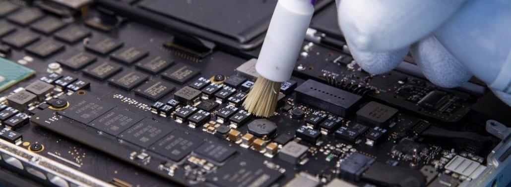сервис macbook восстановление залитых ноутбуков