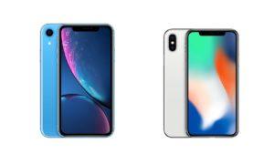 сравнение iphone XR и iphone X