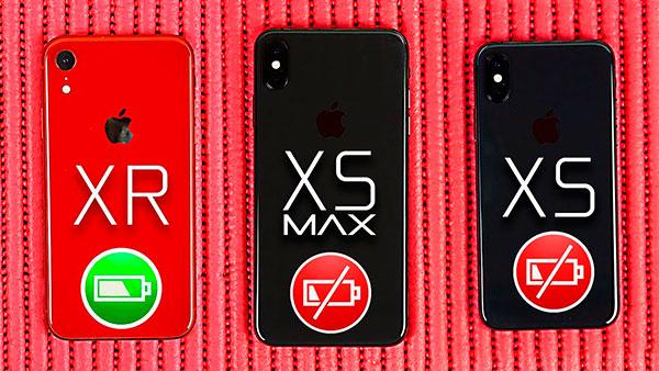 сравнение аккумулятора iPhone XR с другими