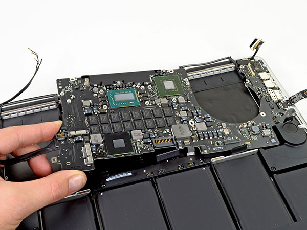 Замена запчастей macbook air Retina