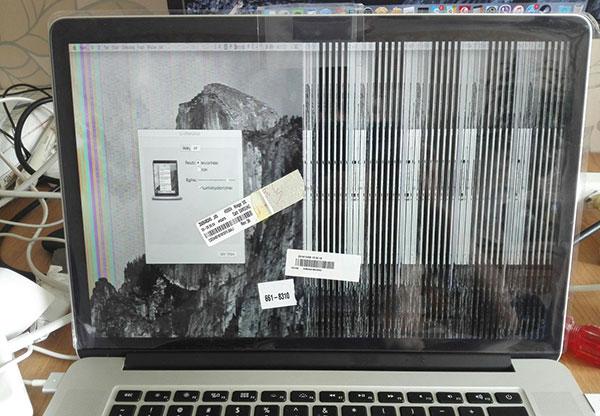 признаки неисправности дисплея Macbook Pro